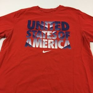 United States of America Tee Nike Slim Fit XL Red